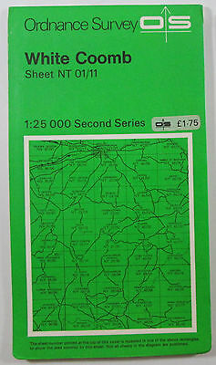1977 old OS Ordnance Survey Second Series Pathfinder Map NT 01/11 White Coomb