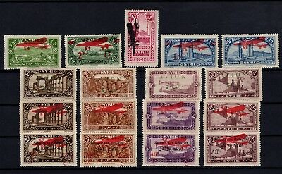 P99948/ Syrrie / Syrria / Airmail / Lot 1925 - 1930 Neuf * / Mint Mh