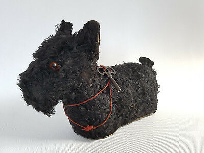Vorkrieg mechanisches Spiel Scottish Terrier mit Uhrwerk Made in Germany Arnold?