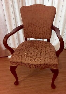 Edwardian Style Open Arm Chair Upholstery Project! Oak  Original Springs