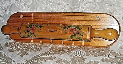 Vintage Wood KNIVES Holder H/ Made Rustic Cottage Style Chic Kitchenalia 39CmL