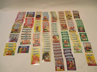 Topps Lot (113) Count Garbage Pail Kids Blue Letter Cards Near Mint Condition