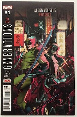 Generations: Wolverine & All-New Wolverine #1 Marvel 2017 1st Print Bag & Board