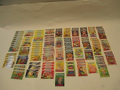 Topps Lot (110) Count Garbage Pail Kids Blue Letter Cards Near Mint Condition