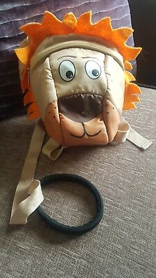 Toddlers Lion Backpack With Reins Unisex