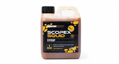 New Nash Bait Scopex Squid Syrup 1L Litre Liquid Bait Soak B6858 - Carp Fishing