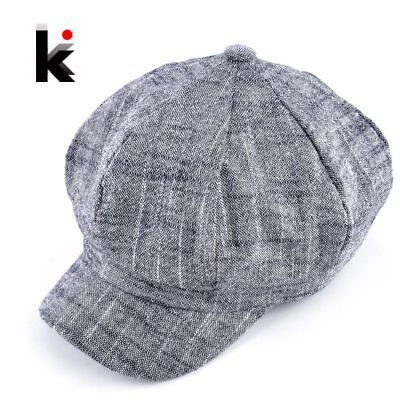 Womens fashion octagonal hat newsboy cotton and linen mixing beret autumn and