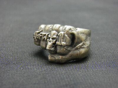 WW1 Commemorative Military Style G&S Brand Vintage Silver Ring