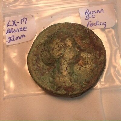 Ancient Roman Big Bronze 32mm Thick And Heavy SC Coin Green Patina Super Nice!