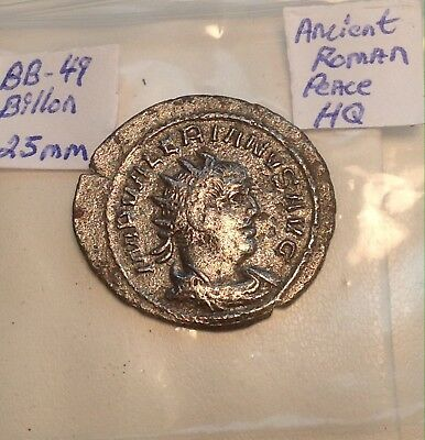 Ancient Silver/Billon Roman 25mm Valerianus Shows Way Better In Hand