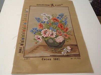 COLLECTION D'ART Bowl of Flowers Tapestry stiffened.