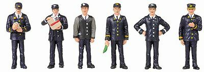Painted Bachmann 36-043 6x Station Staff figures