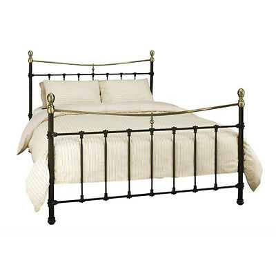 Serene Edwardian II 4ft6 Double Metal Bed Frame in Ivory/Black - FREE Delivery