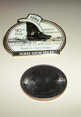 """1996 National Western Stock Show Denver 90th Annual """"Horse Show Staff"""" Pin"""