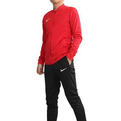 9a2364e5f279 Nike Mens Academy 16 Dri Fit Red Black Knit Football Gym Warm Up Full  Tracksuit