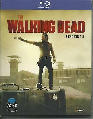 blu ray brd THE WALKING DEAD-STAGIONE 3 tre-4 DVD-COFANETTO/BOX NUOVO ITALIANO