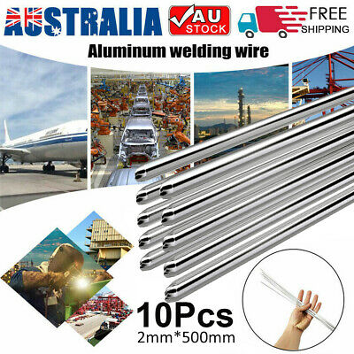 "10PCS 0.08"" Low Temperature Aluminum Flux Cored Welding Wire Soldering Rod AU"