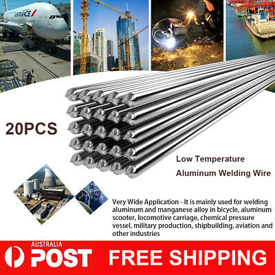 2.0mm*500mm 20PCS Low Temperature Aluminum Welding Wire Soldering Rod Set AU