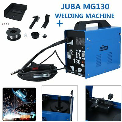 GASLESS MIG 130 WELDER FLUX CORE AUTO WIRE FEED PORTABLE WELDING MACHINE W Mask