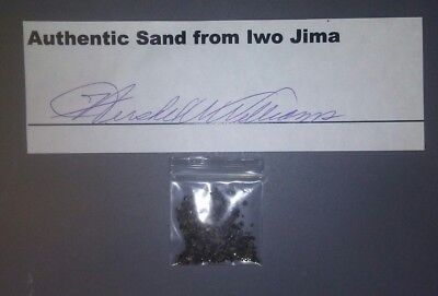 Iwo Jima Sand certified by Medal of Honor receiver