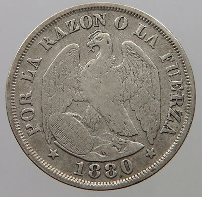 CHILE 20 CENTS 1880 #rm 037