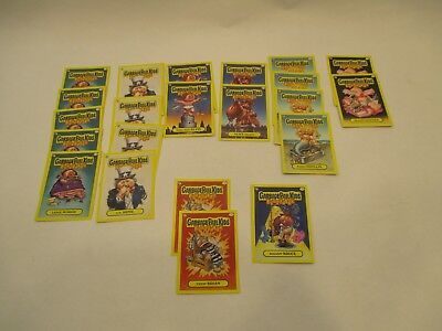 Topps Lot 22 Garbage Pail Kids Flash Back Yellow Cards Near Mint Condition
