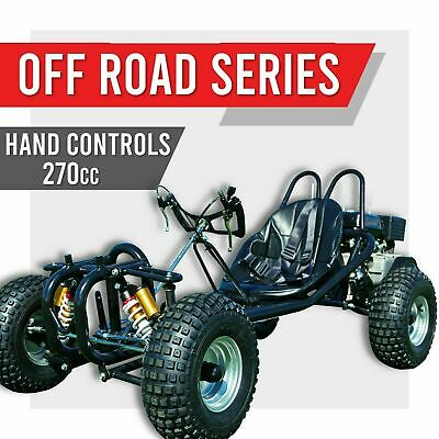 Off Road Go Kart 270Cc Full Sized Adult Automatic Buggy Quad Atv 4 Wheeler