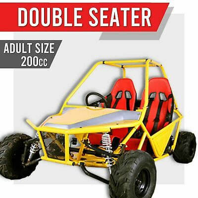 200GKM-2 XL DOUBLE 200cc TWO SEATER ✸ Off road dune buggy FULL SIZED Go kart