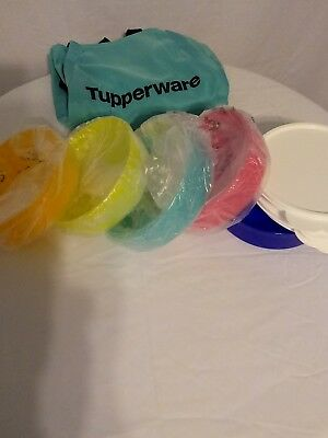 """Tupperware """" NEW """"Impressions Microwave Cereal Bowls Assorted colors"""
