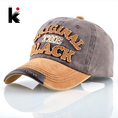 Washed Denim Baseball Cap Men Women 100% Cotton Snapback Dad Hats Letters