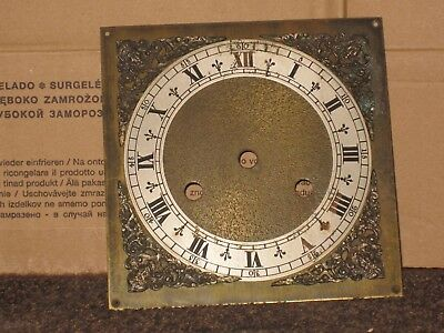 antique brass clock face
