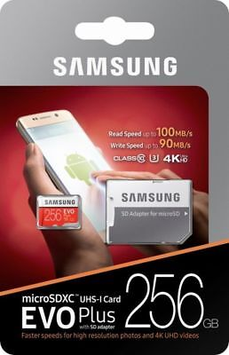 Samsung - EVO Plus 256GB microSDXC UHS-I Memory Card With Adapter