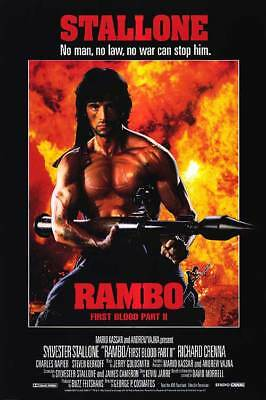 Rambo First Blood Part 2 35mm Film Cell strip very Rare var_e