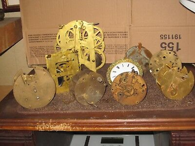 antique clock movements french for parts