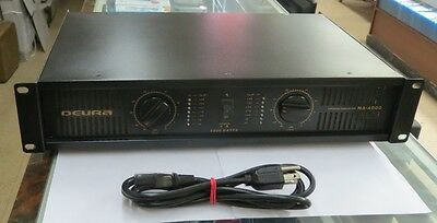 Deura MA-4000 4,000 Watt 2 channel 2U Rack DJ Professional Power Amplifier