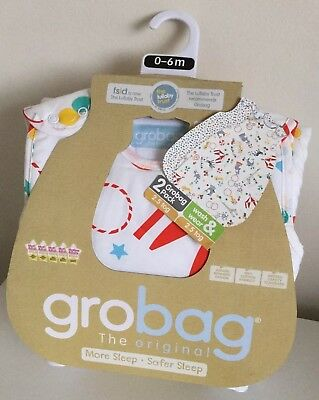 The Gro Company Roll Up Gro Bag Twin Pack Wash & Wear 2.5 Tog 0 - 6 Months