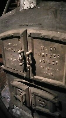 Antique rare 1895 Boiler Coal Hopper.  For one of a kind fire pit!