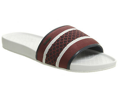 f9d8d3b1711e MENS TED BAKER Maluse Slides White Dark Red Sandals - EUR 58