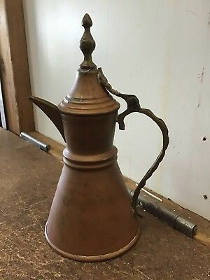 Vintage Copper Brass Jug Pitcher with Lid Small
