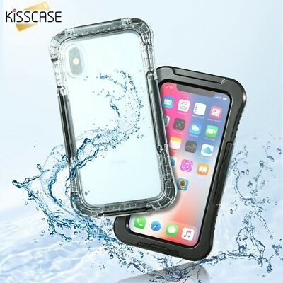 KISSCASE Waterproof Dustproof Rubber Phone Case Cover Underwater For iPhone X