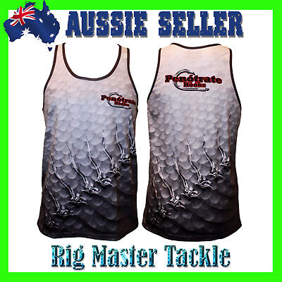 Quick Dry Scales Fishing Singlet Tank Top Top Quality and Comfy Adults S - 9XL