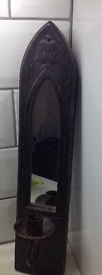 Indian Wooden Sconce With Mirror