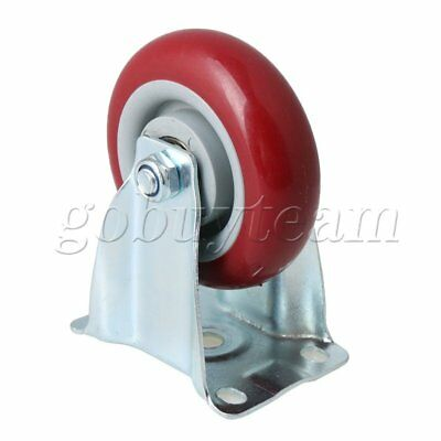 10x3.2x12.7cm Red Metal Flatbed Trolley Single Axis Directional Casters