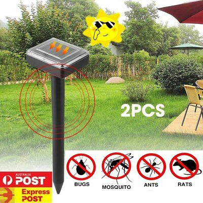 Solar UV Bug Zapper Mosquito Fly Insect Repeller Killer Garden Path LED Light R1