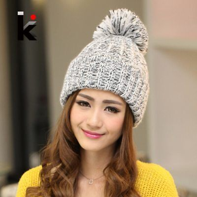 Women Beanies  Autumn And Winter Female Hats Hot Selling The Knitting Ball Wool