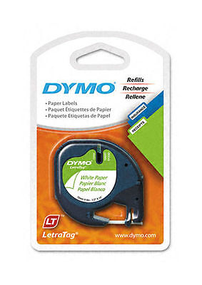Dymo LetraTag  Labelmaker Refill Tapes (2 Pack) 1/2in.x13ft.(10697)