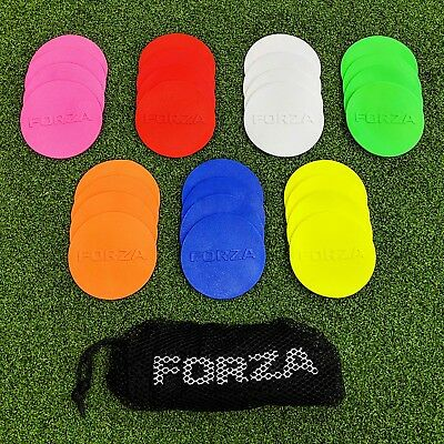 "FORZA Mini Flat Disc Markers [20qty] - 3.5"" Non Slip Discs - Carry Bag Included"