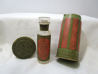 "LATE 1800""s ANTIQUE LAZELL'S PERFUME BOTTLE W/ORIGINAL TAX STAMP-BOX-LABEL"
