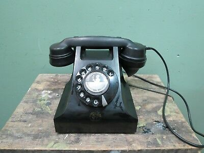 AEP Telephone - Portugese version of GPO 1954 Black Bakelite - 13B