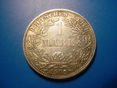 Germany - Silver - 1901-A 1-Mark In Excellent Condition
